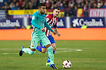 FC Barcelona's midfielder Rafinha Alcantara andd Atletico de Madrid's midfielder Gabi Fernandez competes for the ball with  during the match of Copa del Rey between Atletico de  Madrid and Futbol Club Barcelona at Vicente Calderon Stadium in Madrid, Spain. February 1st 2017. (ALTERPHOTOS/Rodrigo Jimenez)