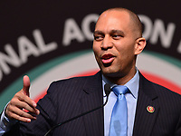 New York, NY - April 5, 2019: U.S. Representative Hakeem Jeffries speaks during the National Action Network's Annual Convention hosted by the Rev. Al Sharpton at the Times Square Sheraton Hotel in New York City, April 5, 2019.  (Photo by Don Baxter/Media Images International)