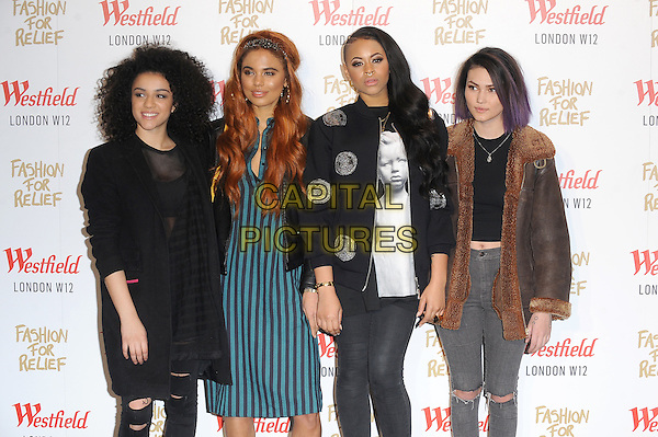 LONDON, ENGLAND - NOVEMBER 27: Neon Jungle attend the Fashion For Relief Pop Up Launch Party at Westfield Shopping Centre on November 27, 2014 in London, England.<br /> CAP/BEL<br /> &copy;Tom Belcher/Capital Pictures