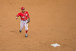28 July 2013: Washington Nationals shortstop Ian Desmond in action against the New York Mets at Nationals Park in Washington, DC. The Nationals defeated the Mets 14-1. Mandatory Credit: Ed Wolfstein Photo *** RAW (NEF) Image File Available ***