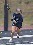 Towson, MD - February 10, 2018: Penn State Maggie Gallagher (10) looks to pass the ball during game between Towson and Penn St at  Minnegan Field at Johnny Unitas Stadium  in Towson, MD.   (Photo by Elliott Brown/Media Images International)