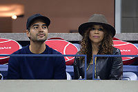 FLUSHING NY- AUGUST 29: ***NO NY DAILIES***   Rosie Perez is seen watching Madison Keys Vs Elise Mertens at The 2017 US Open Tennis at the USTA Billie Jean King National Tennis Center on August 29, 2017 in Flushing Queens. Credit: mpi04/MediaPunch