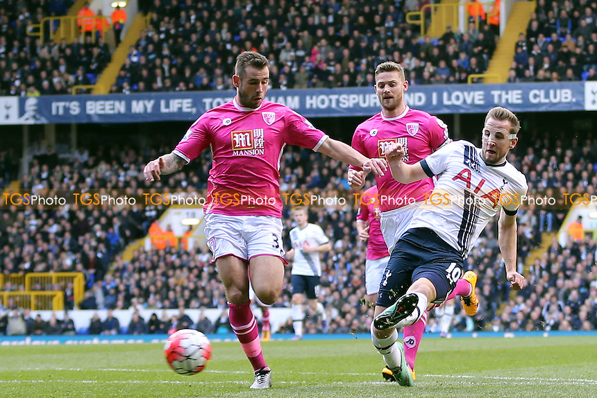 Harry Kane of Tottenham Hotspur scores the second goal during Tottenham Hotspur vs AFC Bournemouth, Barclays Premier League Football at White Hart Lane on 20th March 2016