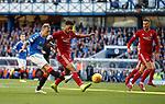 28.09.2018 Rangers v Aberdeen: Scott Arfield forces a save