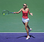 Maria Sharapova battles at the Sony Ericsson Open in Key Biscayne, Florida on March 29, 2012