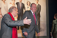 King Juan Carlos I of Spain attends a painting exhibition with painter Antonio Lopez at Palacio Real in Madrid, Spain. November 03, 2014. (ALTERPHOTOS/Victor Blanco) /NortePhoto.com