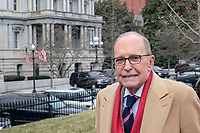 Director of the National Economic Council Larry Kudlow speaks to members of the media outside the White House in Washington, DC on Friday, January 10, 2020. <br /> Credit: Alex Wroblewski / CNP/AdMedia