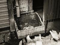 Downspout sink in Ota, Japan 2014.