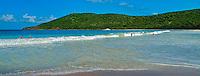 Culebra, Flamenco Beach,  White, Sand, Beach, Aua, Ocean, Water, Panorama , island-municipality of Puerto Rico, Caribbean, Island, Greater Antilles, Commonwealth USA