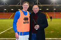 Blackpool's Sean Longstaff receives his goal of the month award<br /> <br /> Photographer Richard Martin-Roberts/CameraSport<br /> <br /> The EFL Sky Bet League One - Blackpool v Charlton Athletic - Tuesday 13th March 2018 - Bloomfield Road - Blackpool<br /> <br /> World Copyright &not;&copy; 2018 CameraSport. All rights reserved. 43 Linden Ave. Countesthorpe. Leicester. England. LE8 5PG - Tel: +44 (0) 116 277 4147 - admin@camerasport.com - www.camerasport.com
