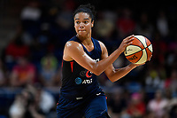 Washington, DC - July 30, 2019: Washington Mystics guard Kristi Toliver (20) brings the ball up court during game between the Phoenix Mercury and the Washington Mystics at the Entertainment & Sports Arena in Washington, DC. The Mystics defeated the Mercury 99-93. (Photo by Phil Peters/Media Images International)
