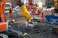 Crossrail construction London Moorgate - 11th February 2012
