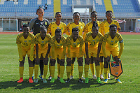 20190306 - PARALIMNI , CYPRUS : South African team pictured during a women's soccer game between Finland and South Africa , on Wednesday 6 March 2019 at the Tassos Markou Stadium in Paralimni , Cyprus.  This last game for both teams which decides for places 9 and 10 of the Cyprus Womens Cup 2019 , a prestigious women soccer tournament as a preparation on the Uefa Women's Euro 2021 qualification duels.PHOTO SPORTPIX.BE | STIJN AUDOOREN