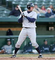 April 4, 2008:  West Michigan Whitecaps starting infielder Chris Carlson (33) at bat against the South Bend SilverHawks at Coveleski Stadium in South Bend, IN.  Photo by: Chris Proctor/Four Seam Images