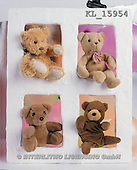 Interlitho, Alberto, CUTE ANIMALS, teddies, photos, 4 teddies(KL15954,#AC#)