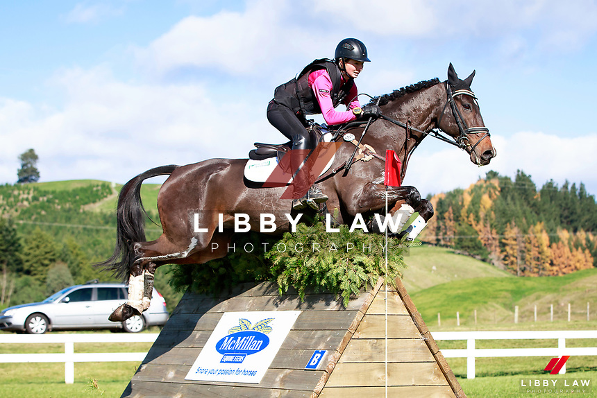 Ashleigh McKinstry rides Pioneer Brass Monkey during the NRM CCI3* Championship Cross Country at the 2017 NZL-NRM National Three Day Event Championships. National Equestrian Center, Taupo. Saturday 13 May. Copyright Photo: Libby Law Photography