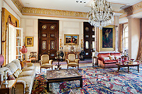 The opulent 19th century apartment  exudes sensuality, fantasy and passion. In the main living room, paintings by Jean-François Portaels, Charles-Théodore Frère, Emile Jean-Horace Vernet, Hans Zatzka and Otto Pilny are some of the masterpieces. Objects from the 19th century, by Louis-Constant Sévin, Edouard Lièvre, Viardot and La Maison Christofle complement the Orientalist atmosphere.