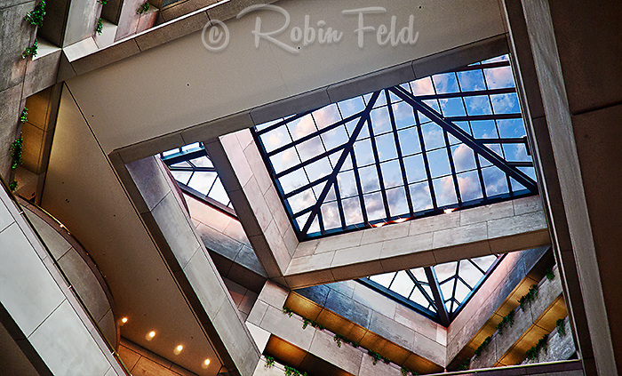 PNC Bank Building Skylight, Dayton Ohio. Designed by architect I.M.Pei