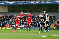 O's Josh Coulson scres O's 2nd goal during Grimsby Town vs Leyton Orient, Sky Bet EFL League 2 Football at Blundell Park on 19th October 2019
