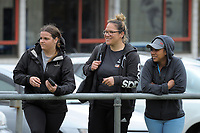 Fans watch the Farah Palmer Cup women's provincial rugby match between Wellington Pride  and Auckland at Jerry Collins Stadium / Porirua Park, Wellington, New Zealand on Saturday, 23 September 2017. Photo: Dave Lintott / lintottphoto.co.nz