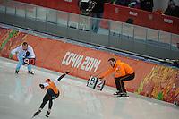 OLYMPICS: SOCHI: Adler Arena, 16-02-2014, Ladies' 1500m, Rutger Tijssen (trainer/coach), ©photo Martin de Jong