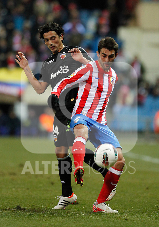 Madrid (05/02/2012) LIGA BBVA.Atletico de Madrid- Valencia C.F...TINO COSTA, ADRIAN.....