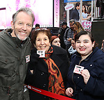 Stephen Bogardus Along with Actors' Equity members talk to Broadway audiences about why they are fighting for a better development contract with the Broadway League after the Union announced Monday a strike for all development work with the Broadway League. TKTS Booth, Duffy Square Neil January 8, 2019 in New York City.