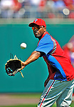 30 May 2011: Philadelphia Phillies shortstop Jimmy Rollins warms up prior to facing the Washington Nationals at Nationals Park in Washington, District of Columbia. The Phillies defeated the Nationals 5-4 to take the first game of their 3-game series. Mandatory Credit: Ed Wolfstein Photo
