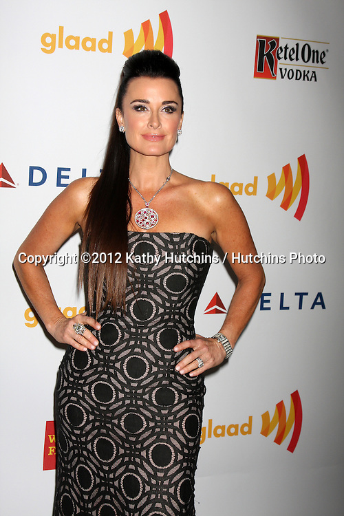 LOS ANGELES - APR 21:  Kyle Richards arrives at the 23rd GLAAD Media Awards at Westin Bonaventure Hotel on April 21, 2012 in Los Angeles, CA