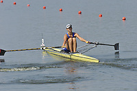 Brest, Belarus. RUS. BLW1X,  Mayya REZNIKOVA, as the  the start.  2010. FISA U23 Championships. Thursday,  22/07/2010.  [Mandatory Credit Peter Spurrier/ Intersport Images]