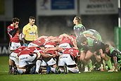 January 12th 2018, Stade Armandie , Agen, France;  European Rugby Challenge Cup, SU Agen Lot-et-Garrone;  Steaming scrum between Agen and Gloucester