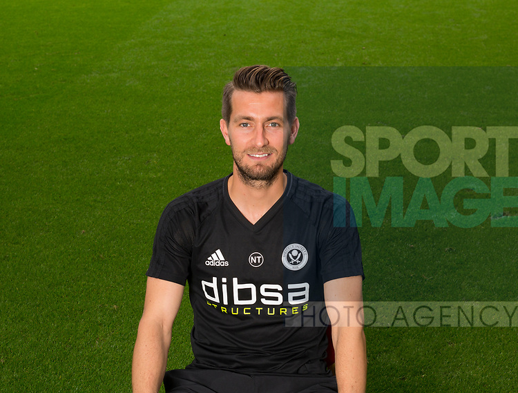 Nick Travis of Sheffield Utd during the 2017/18 Photocall at Bramall Lane Stadium, Sheffield. Picture date 7th September 2017. Picture credit should read: Sportimage