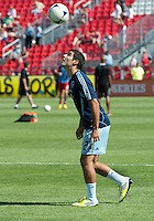 August 18, 2012: Sporting KC forward Soony Saad #22 in action during the warm-up in an MLS game between Toronto FC and Sporting Kansas City at BMO Field in Toronto, Ontario Canada..Sporting Kansas City won 1-0.
