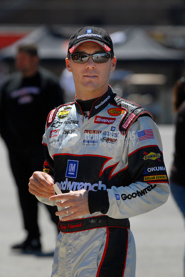 Sept. 2, 2006; Fontana, CA, USA; Nascar Nextel Cup driver Kevin Harvick (29) during practice for the Sony HD 500 at California Speedway. Mandatory Credit: Mark J. Rebilas.