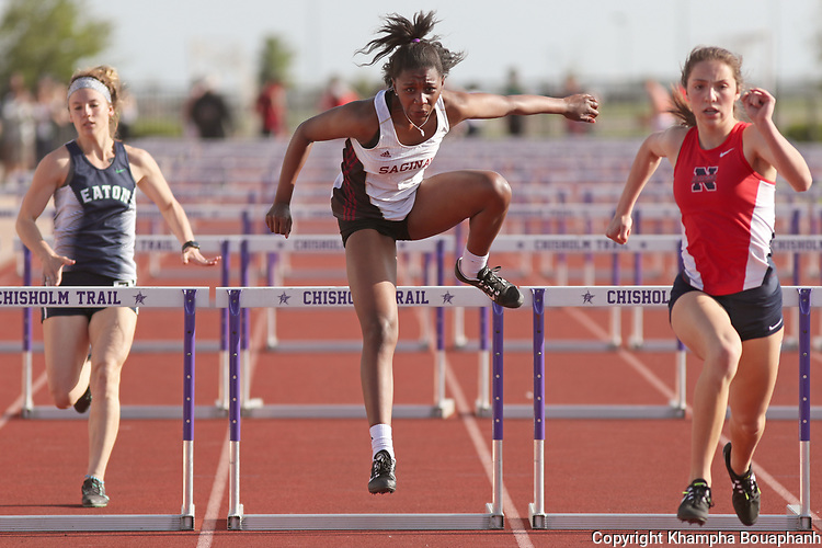 District 6-5A track meet, photographed at Chisholm Trail High School in Fort Worth on Thursday, April 5, 2018. (photo by Khampha Bouaphanh)