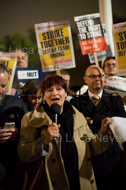 Christine Blower (General Secretary of National Union of Teachers, NUT).<br />