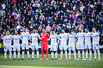 Players of Real Madrid line up prior to the La Liga 2017-18 match between Real Madrid and Deportivo Alaves  at Santiago Bernabeu Stadium on February 24 2018 in Madrid, Spain. Photo by Diego Souto / Power Sport Images