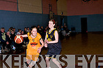 The St Joseph's TK, Athea basketball team who participated in the U16 girls basketball cup final in Cumann Iosaef gym
