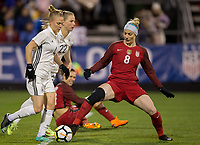 Columbus, Ohio - Thursday March 01, 2018: Leonie Maier, Julie Ertz during a 2018 SheBelieves Cup match between the women's national teams of the United States (USA) and Germany (GER) at MAPFRE Stadium.