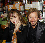 """Cast of Days Of Our Lives -  Lauren Koslow """"Kate Roberts"""" and Stephen Nichols  sign book """"Days Of Our Lives 50 Years"""" by Greg Meng - author & co-executive producer on October 27, 2015 at Books & Greetings, Northvale, New Jersey. (Photo by Sue Coflin/Max Photos)"""