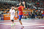 handball wordl cup match between Spain vs Tunisia.  Cañellas. 2015/01/25. Doha. Qatar. Alberto de Isidro.Photocall 3000
