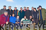 The O'Connors from Scartaglin who were winners last Thursday in the annual Abbeyfeale Coursing. F l-r: Maurice Harnett, Mary O'Connor, Cian Cremin, Grainne and Dan O'Connor. B l-r: Michael Foley, James Joy, Tom Tanner, Ger Cremin, Kieran Fitzgerald, Paddt Fitzgerald, John Sheahan, Karen O'Connor, Ned Murphy, Paddy Heirilhy.