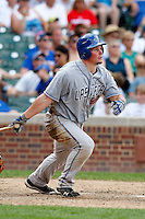 August 9, 2009:  Left Fielder Travis Snider of the Las Vegas 51s hits a home run during a game at Wrigley Field in Chicago, IL.  Las Vegas is the Pacific Coast League Triple-A affiliate of the Toronto Blue Jays.  Photo By Mike Janes/Four Seam Images