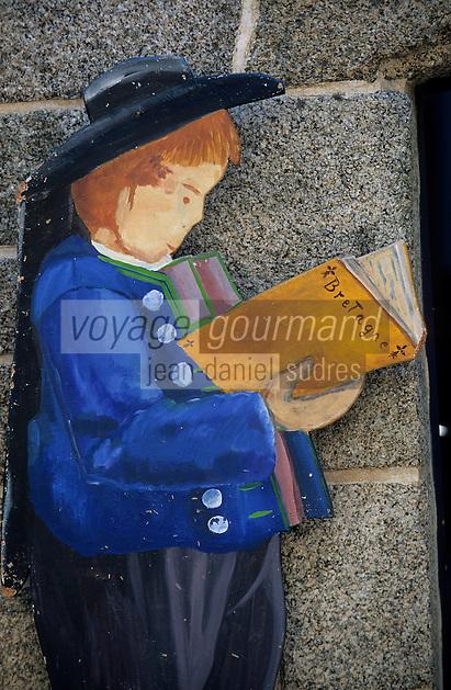 Europe/France/Bretagne/29/Finistère/Concarneau: Enseigne d'une librairie rue Vauban dans la ville close