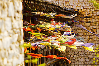 Prayer flags near the Paro Dzong, Paro, Bhutan