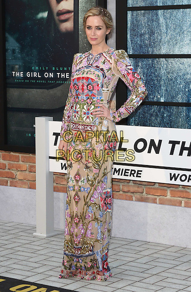 Emily Blunt at The Girl on the Train - world film premiere at the Odeon Leicester Square. London on September 20th 2016<br /> CAP/ROS<br /> &copy;Steve Ross/Capital Pictures
