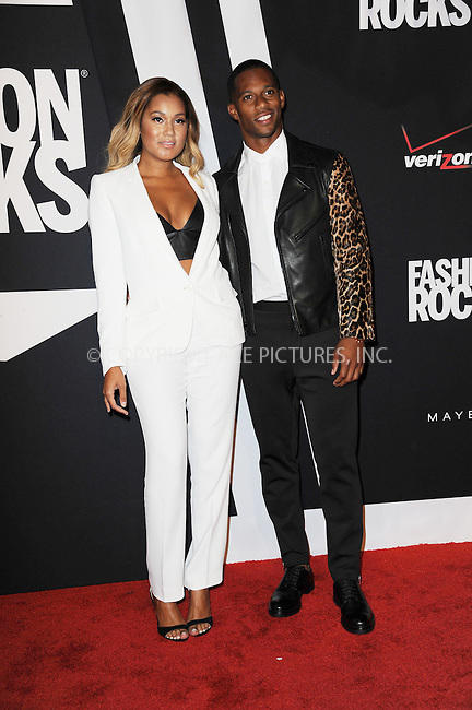 WWW.ACEPIXS.COM<br /> September 9, 2014 New York City<br /> <br /> Elaina Watley and Victor Cruz attending Fashion Rocks 2014 at the Barclays Center September 9, 2014 in New York City.<br /> <br /> Please byline: Kristin Callahan/AcePictures<br /> <br /> ACEPIXS.COM<br /> <br /> Tel: (212) 243 8787 or (646) 769 0430<br /> e-mail: info@acepixs.com<br /> web: http://www.acepixs.com