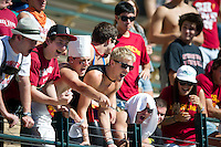 STANFORD, CA - October 9, 2010: Fans during a water polo game against USC in Stanford, California. Stanford beat USC 5-3.