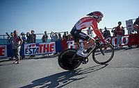 Louis Vervaeke (BEL/Lotto-Soudal) finishing the opening TTT<br /> <br /> 2015 Giro<br /> finish zone of stage 1: San Lorenzo Al Mare - San remo (TTT/17.6km)