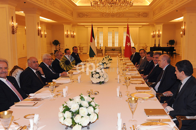 Palestinian President, Mahmoud Abbas (Abu Mazen)during a meeting with Turkish President Abdullah Gul in the Turkish capital Ankara on Dec 20, 2011. Photo by Thaer Ghanaim